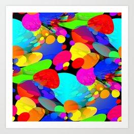 Bouncing Off the Walls - Abstract Art Print