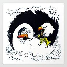Eagle & Swan Art Print