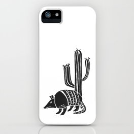 Armadillo in the desert iPhone Case