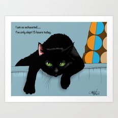 The Tired One Art Print