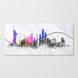 Color New York Skyline 06 Canvas Print