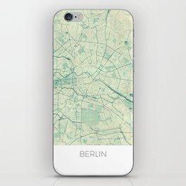 Berlin Map Blue Vintage iPhone Skin
