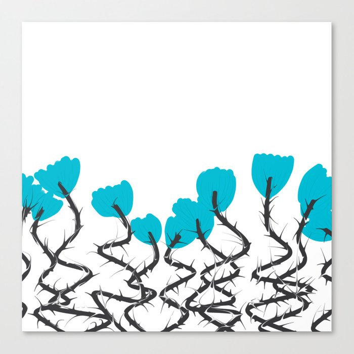 Spicy flowers Canvas Print