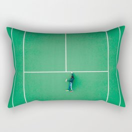 Tennis court green Rectangular Pillow