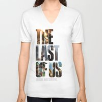 the last of us V-neck T-shirts featuring The Last of Us by fardeen