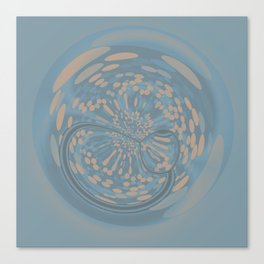 Soft Blue and Beige Circle Abstract Canvas Print