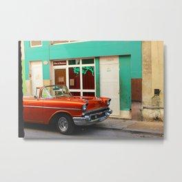 Orange Car in Havana Metal Print