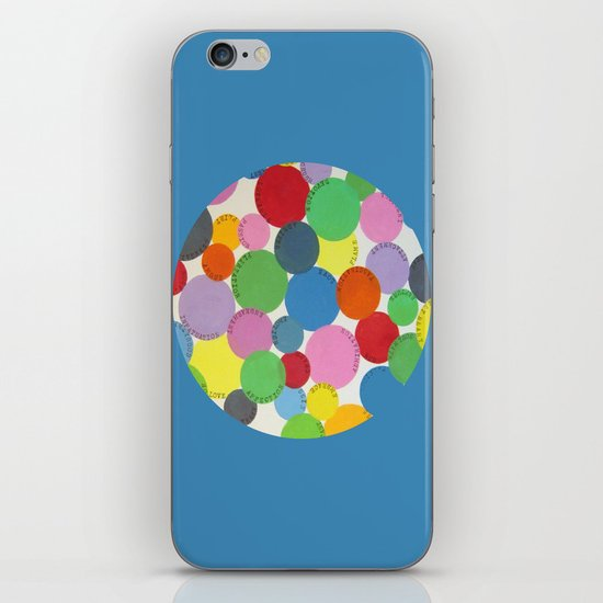 Word Bubbles Blue iPhone Skin