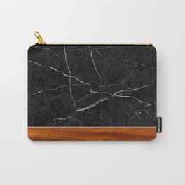 Marble and Wood Carry-All Pouch