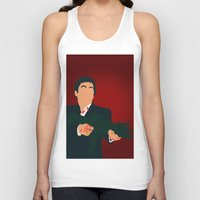 scarface Tank Tops featuring Scarface by Tom Storrer