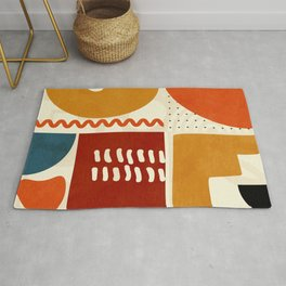 mid century shapes geometric abstract color 2 Rug