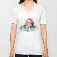 nicolas cage V-neck T-shirts featuring Nicolas Cage You Don't Say by Olechka