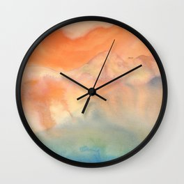 tie dye - the Earth: heaven Wall Clock