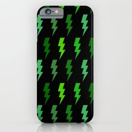 Green Lightning Bolt Electric Storm Thunder iPhone Case
