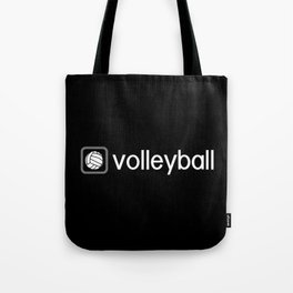 Volleyball (Grey) Tote Bag