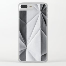 Folded Paper 1 Clear iPhone Case