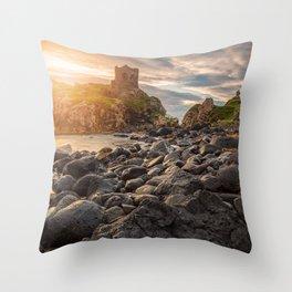 Kinbane Castle VI Throw Pillow