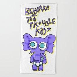 Trouble Kid Beach Towel