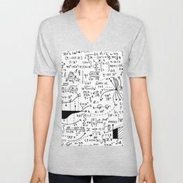 Hand Written Math Equation Unisex V-Neck