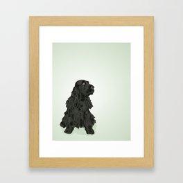 Black English Cocker Spaniel Framed Art Print
