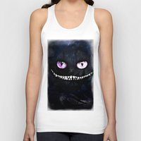 cheshire cat Tank Tops featuring CHESHIRE by Julien Kaltnecker