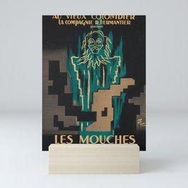 cartel les mouches jean paul sartre Mini Art Print