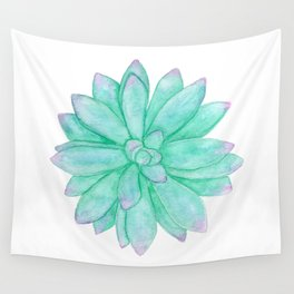 Pachyveria - Green and Red Succulent Wall Tapestry