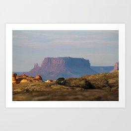 Distant Mesa Art Print