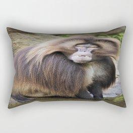 Baboon Looking At me Rectangular Pillow