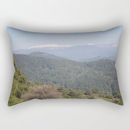 Distant Snow Topped Moutains from Cicekli Ula Rectangular Pillow