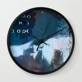 The world in my eyes portrait Wall Clock