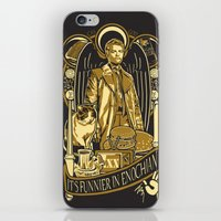 castiel iPhone & iPod Skins featuring Castiel by Tracey Gurney