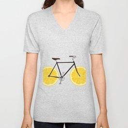 Lemon Bike Unisex V-Neck