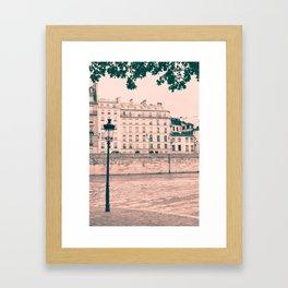 Pastel Island Tip Framed Art Print