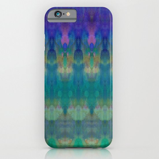 Tribal Diamonds Watercolour Blue iPhone & iPod Case