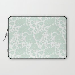 Vintage elegant pastel green white stylish floral Laptop Sleeve