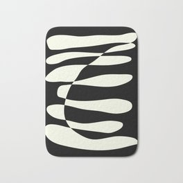 Abstract Composition in Black and White Bath Mat