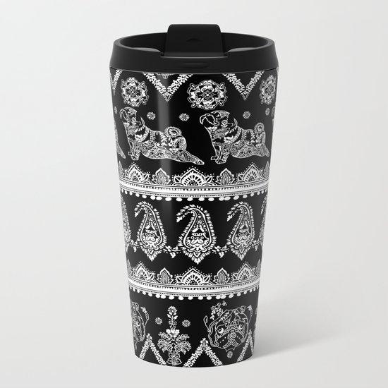 Boho of Pug Metal Travel Mug