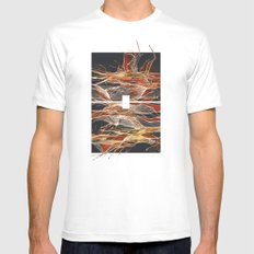 Midnight Fever MEDIUM White Mens Fitted Tee