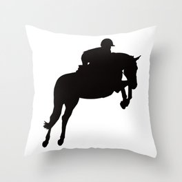 Jumping Horse Silhouette Throw Pillow