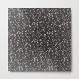 School pattern on the white Metal Print