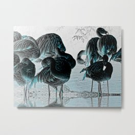 Exotic Flamingos Metal Print