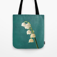 Botanical Flower Photograph - Lilies of the Valley Tote Bag