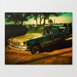 Abandoned Car Digital Edition Photo Canvas Print