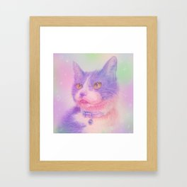 miwa cat1 ~purple~ Framed Art Print