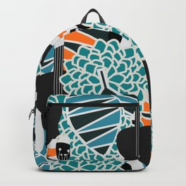 Guitars, flowers and leaves Backpack