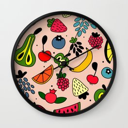 Fruity pattern Wall Clock