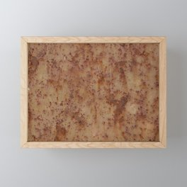 rusty metal Framed Mini Art Print