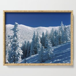 Snowy Mountain &Trees Serving Tray