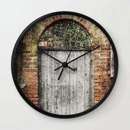 Old doorway Wall Clock